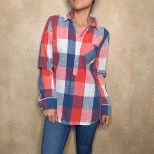 Merona | Plaid Button Down Long Sleeve size S
